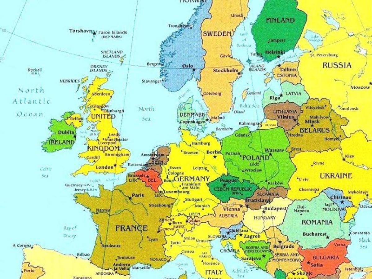 Kart Over Luxembourg Og Omkringliggende Land Kart Over